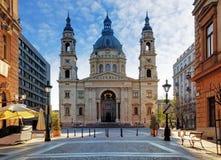 布达佩斯-圣斯蒂芬的大教堂,匈牙利 图库摄影