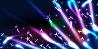 Звезда приносит знамя влияния цвета Стоковые Фото