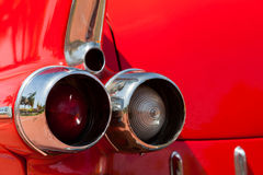 ретро лимузина красное Задняя часть Стоковая Фотография