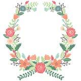 Εκλεκτής ποιότητας στεφάνι λουλουδιών Στοκ Φωτογραφίες