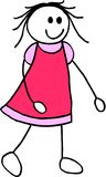 女孩例证 免版税库存图片