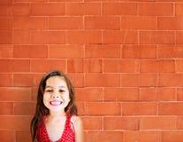 小女孩可爱的美好的快乐的微笑的概念 免版税库存图片