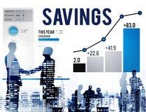 Οικονομική έννοια χρημάτων εισοδηματικού κέρδους χρηματοδότησης αποταμίευσης Στοκ Εικόνες
