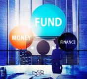 Έννοια πλούτου κέρδους χρημάτων επιχειρησιακής χρηματοδότησης προϋπολογισμών Ταμείων Στοκ Φωτογραφίες