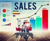 Οικονομική έννοια κέρδους εισοδήματος χρημάτων πωλήσεων Στοκ Εικόνες