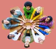 变化人慈善给借团结小组概念 免版税库存照片