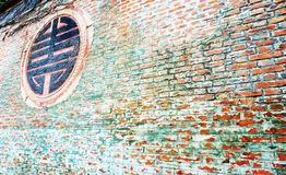 砖老红色墙壁 图库摄影