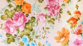 Стиль ретро предпосылки ткани картины шнурка флористической безшовной белой винтажный Стоковая Фотография RF