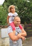 父亲和女儿 库存照片