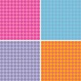 金刚石样式在多种混杂的颜色的背景汇集 免版税库存图片