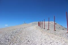 Дорога к верхней части горы Венту, Франции Стоковое фото RF