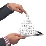 出来智能手机的应用 免版税库存照片