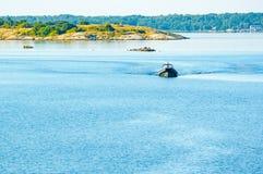Διογκώσιμη βάρκα Στοκ εικόνες με δικαίωμα ελεύθερης χρήσης
