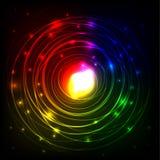 Предпосылка кругов абстрактного цвета накаляя Стоковое Фото