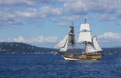 木双桅船,华盛顿夫人 免版税库存照片