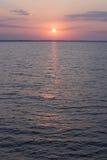 在海天线的日出 免版税库存照片