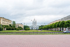 复活的斯莫尔尼宫女修道院 图库摄影