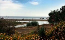 亚得里亚海的克罗地亚全景海边岸 免版税库存图片