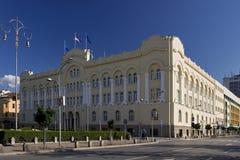κωμόπολη σπιτιών αιθουσών πόλεων διοίκησης Στοκ εικόνα με δικαίωμα ελεύθερης χρήσης