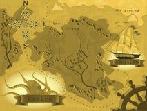 Карта фантазии Стоковые Фотографии RF