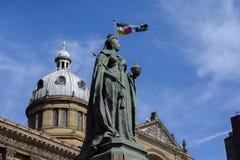 女王维多利亚雕象,伯明翰 免版税图库摄影