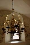 枝形吊灯被塑造的老 免版税库存照片