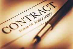 合同签署的概念 免版税图库摄影