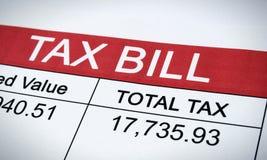 税收法案邮件 免版税库存照片