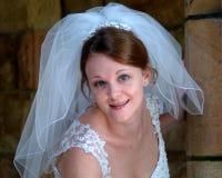 невеста счастливая Стоковая Фотография