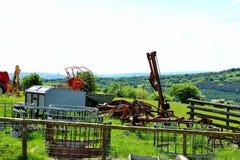 современное аграрное сельскохозяйственное оборудование Стоковые Фотографии RF