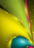 与色的波浪和光线影响的抽象传染媒介背景 免版税库存图片
