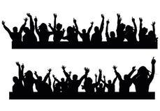 вектор людей партии иллюстрации градиентов Стоковые Фото