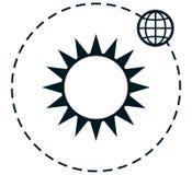 Διανυσματική απλή διανυσματική απεικόνιση γήινης τροχιάς ήλιων Στοκ Φωτογραφία