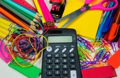 例证办公室学校用品向量 免版税库存照片
