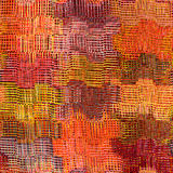 镶边的难看的东西,方格,波浪织法五颜六色的布料 库存照片