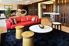 живущая роскошная самомоднейшая комната Стоковые Изображения RF