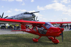 航空器飞机私有小大军事机场 免版税库存图片