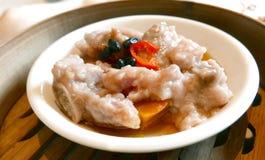 中国食物粤式点心蒸的猪排 免版税图库摄影