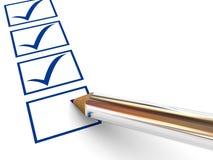 列调查表 免版税库存照片