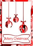 Славная поздравительная открытка рождества в красном цвете Стоковое Изображение RF