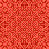 金黄无缝的中国窗口网眼图案花格子几何样式背景 库存照片