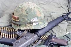 美国陆军在越南-越南战争中期间概念 免版税库存照片