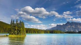 落矶山,湖,加拿大 免版税图库摄影