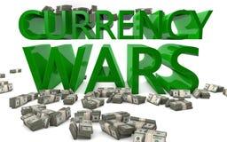 货币战争-外汇率 免版税库存照片