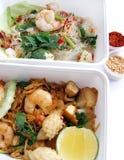 断送食物外带泰国 免版税库存照片