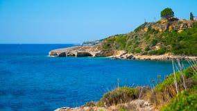 Пляж Греция Стоковая Фотография RF