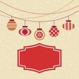 Безшовная предпосылка шариков орнамента рождества Стоковое Изображение