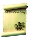 圣帕特里克纸卷 免版税库存照片