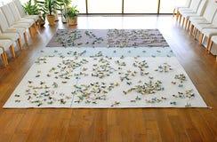 地毯在客厅 免版税库存图片