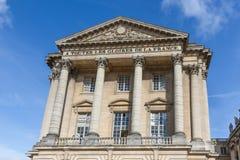 宫殿凡尔赛门面在巴黎,法国附近的 免版税库存图片